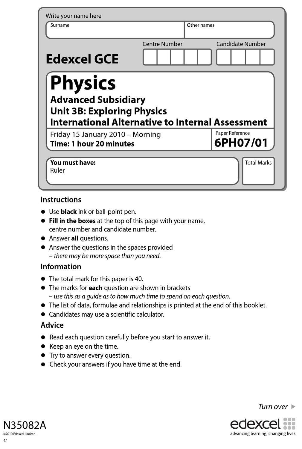 internal assesment guide gce physics