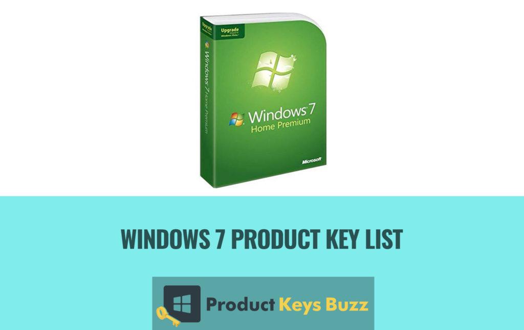 windows 7 product key list pdf