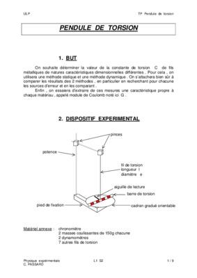 tp pendule de torsion compte rendu pdf