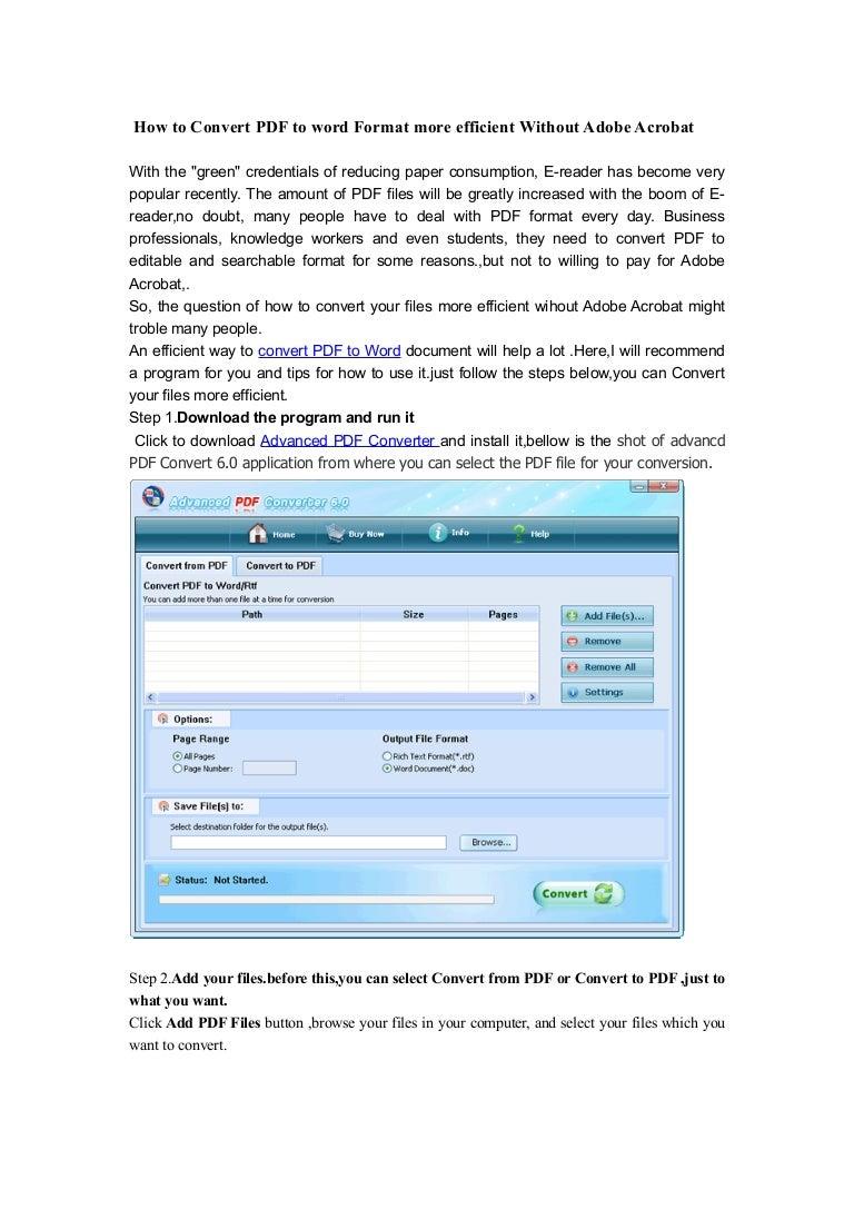 pdf converter to word acrobat