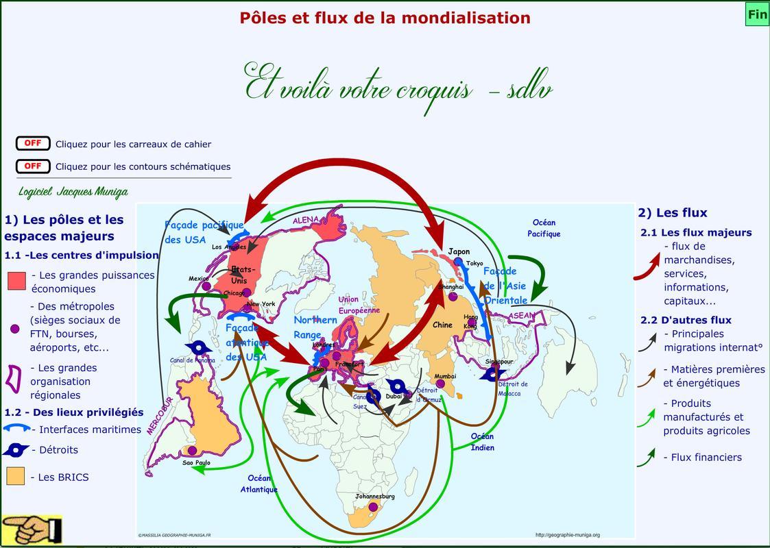 croquis pôles et flux de la mondialisation pdf