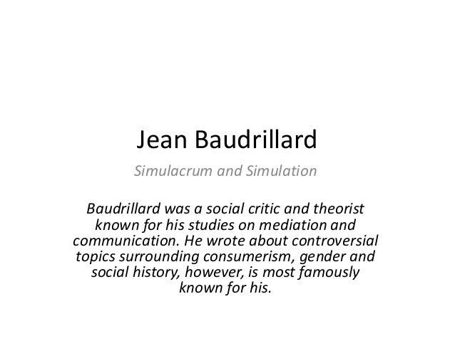 jean baudrillard simulacra and simulation pdf