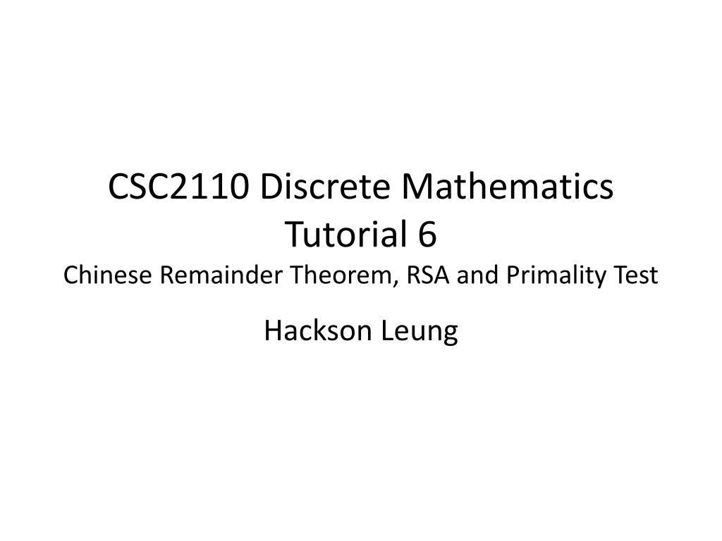 chinese remainder theorem examples pdf