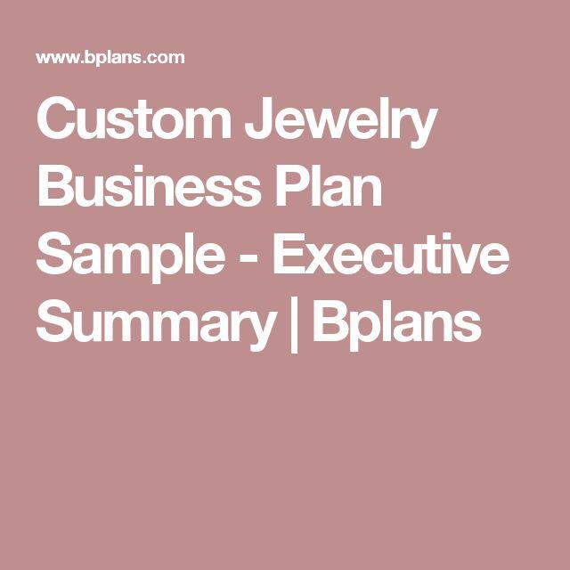 jewellery business plan sample pdf