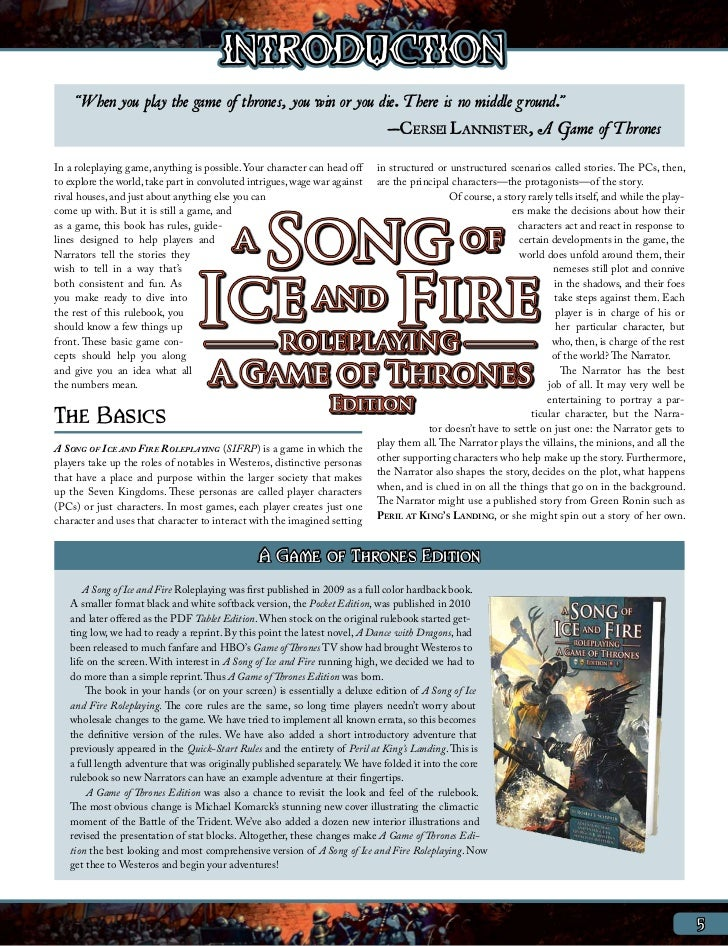 a song of ice and fire pdf