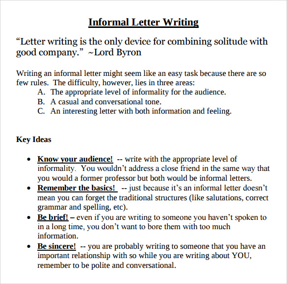 how to write an informal letter email fce pdf