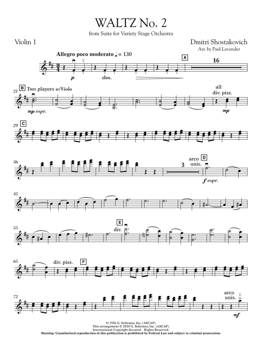 valse no 2 shostakovich piano sheet pdf by free.score