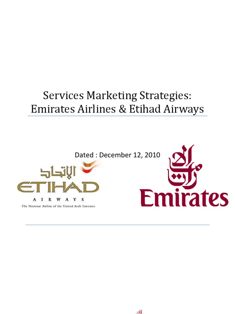 emirates airlines marketing strategy pdf