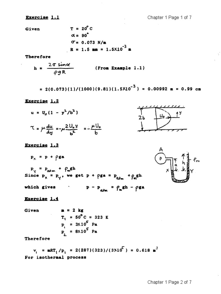 fluid statics problems and solutions pdf