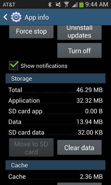 how to change default application storage in android