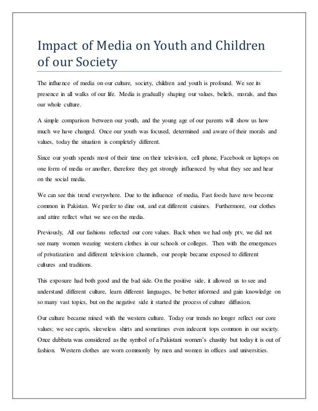 impact of media on society pdf