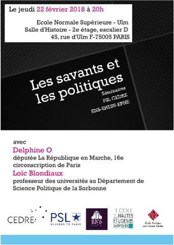 le savant et le politique pdf