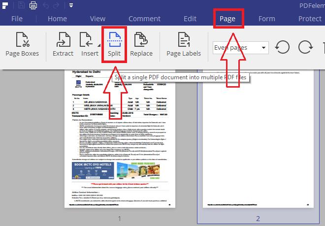 split pdf document into multiple documents
